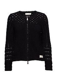 symmetry moves zip cardigan - BLACK