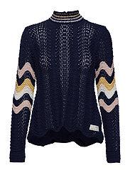 soul stripes sweater - DARK BLUE