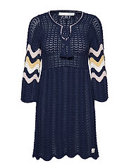 soul stripes dress - DARK BLUE