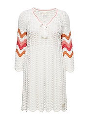 soul stripes dress - LIGHT CHALK