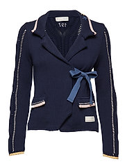 sweet distorsion cardigan - DARK BLUE