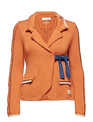 sweet distorsion cardigan - SUNNY ORANGE