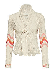 can-can cardigan - LIGHT PORCELAIN