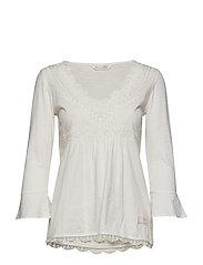 lace vibration blouse - LIGHT CHALK