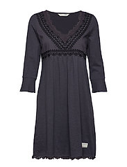 lace vibration dress - ASPHALT