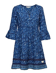 flowering spirit dress - MIDNIGHT BLUE