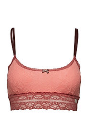 lace oddity top - PEACH PINK