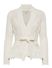 Every Hour Frill Cardigan - LIGHT CHALK