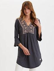 ODD MOLLY - Curious Dress - korte kjoler - asphalt - 0