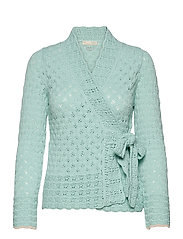 Meryl Wrap Cardigan - LIGHT AQUA