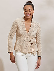 ODD MOLLY - Meryl Wrap Cardigan - cardigans - light porcelain - 0