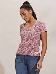 ODD MOLLY - Erin Top - t-shirts - pink mauve - 0