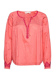 Jill Blouse - LIVING CORAL