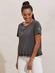 ODD MOLLY - Sally Top - t-shirts - asphalt - 0