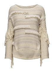 seashell sounds sweater - LIGHT CHALK