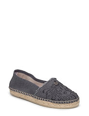oddspadrillos embroidered - ASPHALT