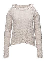 kniterie sweater - MAUVE CHALK