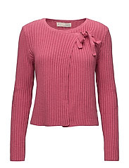 rib it in cardigan - CANDY PINK