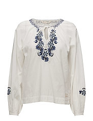 dance out l/s blouse - OFFWHITE