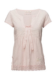 lets love s/s top - MAUVE CHALK