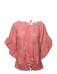 clever heart blouse - SOFT RASPBERRY