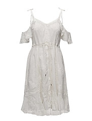 clever heart dress - OFFWHITE