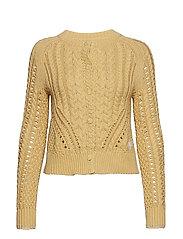 glory days knit cardigan - GOLDEN BISCOTTI