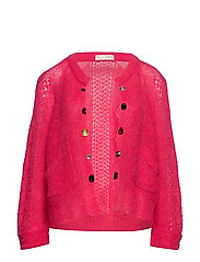 choice maker cardigan - BRIGHT ROSE