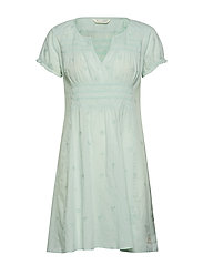facile flower dress - FROSTY GREEN
