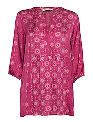 funky belle tunic - DARK RUBY