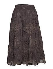 bell formation skirt - ASPHALT