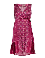 funky belle dress - DARK RUBY
