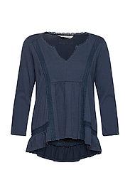 step over blouse - DARK BLUE
