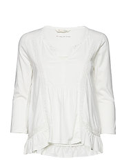 step over blouse - LIGHT CHALK