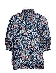 lush shake s/s blouse - DEEP SEA
