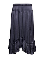 swing loose skirt - FRENCH NAVY