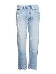 peace player denim jeans - LIGHT BLUE
