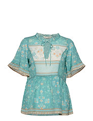 Bohemic S/L Blouse - MOROCCAN TURQUOISE
