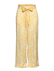 Pretty Printed Pants - VINTAGE YELLOW