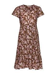 Memorable Dress - BROWN HARMONY