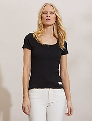 ODD MOLLY - Magda Top - t-shirts - almost black - 0