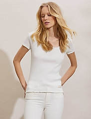 ODD MOLLY - Magda Top - t-shirts - light chalk - 0