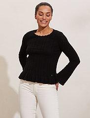 ODD MOLLY - Laura Sweater - sweaters - black - 0