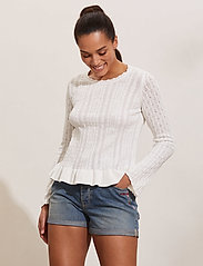ODD MOLLY - Laura Sweater - sweaters - light chalk - 0