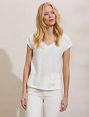 ODD MOLLY - Beth Top - t-shirts - light chalk - 0