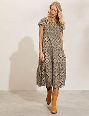 ODD MOLLY - Myrtle Dress - green slate - 0