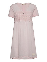Finest Embroidery Dress - PINK ELDER