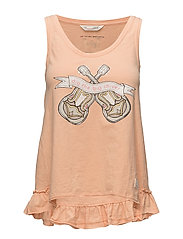 holiday mood tanktop - PEACH