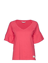 howlin s/s top - RED CORAL