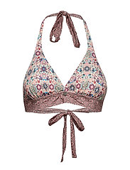 blossom halterneck bikini top - ORCHID PINK